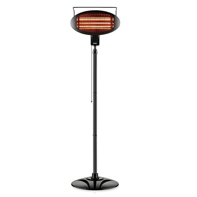 Surjuny Patio Heater Electric Heater With 3 Power Levels Halogen Space Heater For Indoor Outdoor Use Waterproof D Electric Heater Patio Heater Space Heater