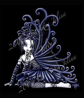 gothic fairytale | Little Blue By Myka Jelina Gothic Fairy Tattoo Flashjpg Download