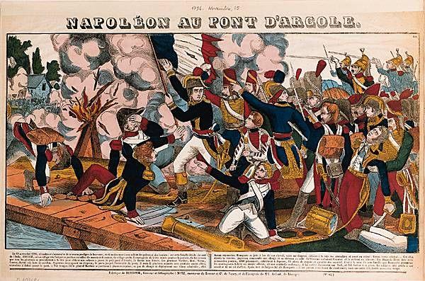 image d'Epinal : Napoléon au pont d'Arcole