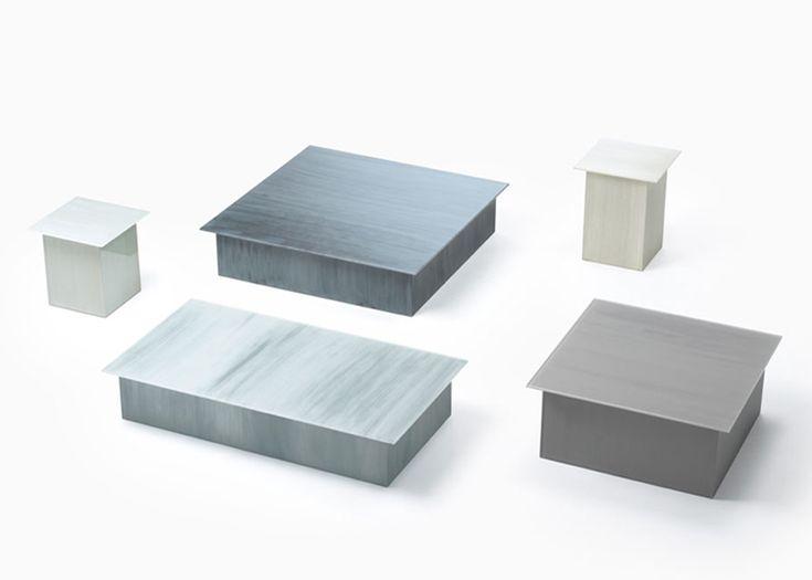 Nendo Patterns Glass Furniture For Glas Italia With Brush Strokes.
