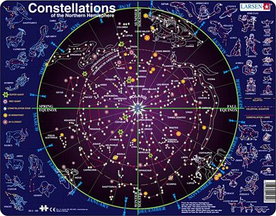Northern Hemisphere Winter Constellation Map | Constellations map ...