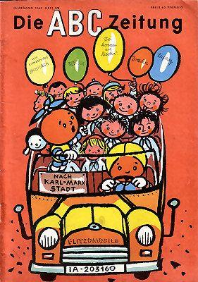 Vintage magazine for children, Cover ABC-Zeitung 7-8/64