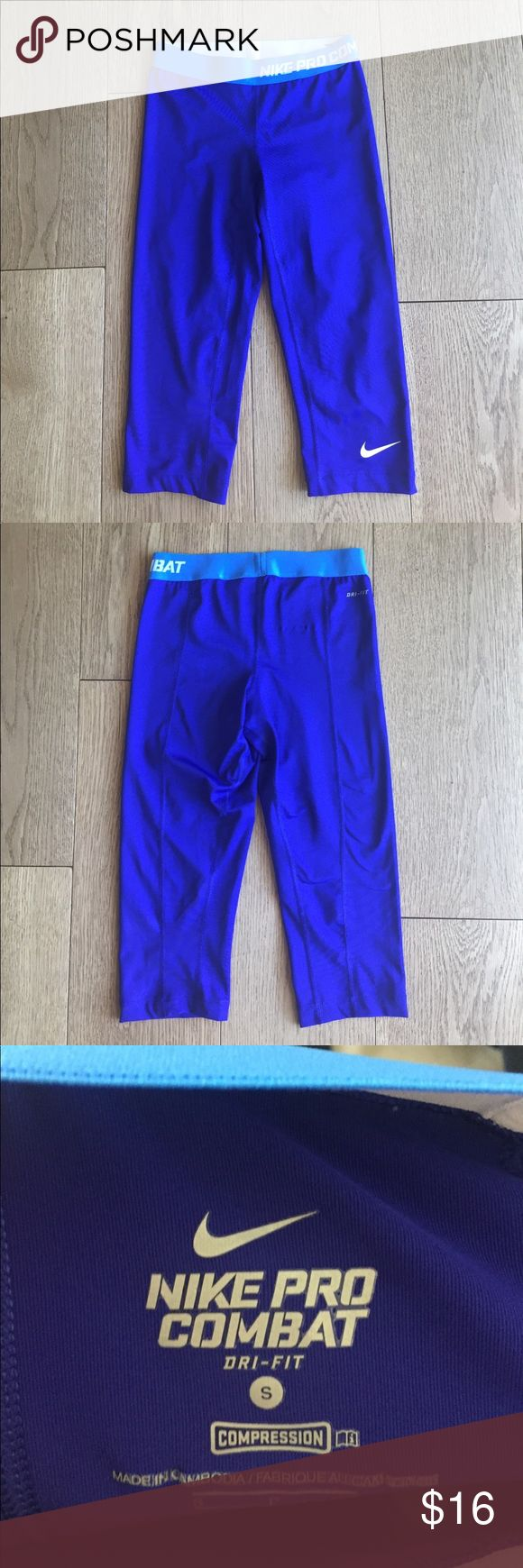 Nike Pro Combat Capris. Nike Combat Pro Capris. Perfect for workouts are running. In good condition. No holes tears or stains. Nike Pants Capris