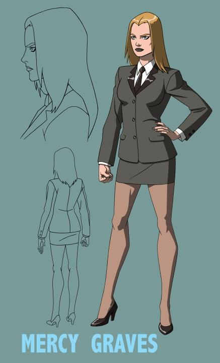 Young Justice Mercy Graves concept art by Jerome K. Moore