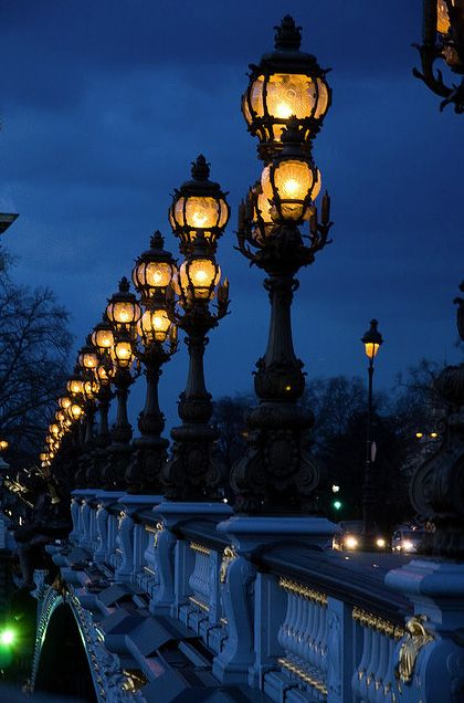 Paris by night The Alexandre bridge