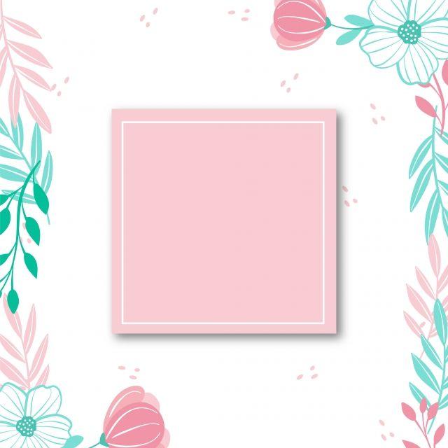 Colorful Floral Frame Floral Border Transparent Png And
