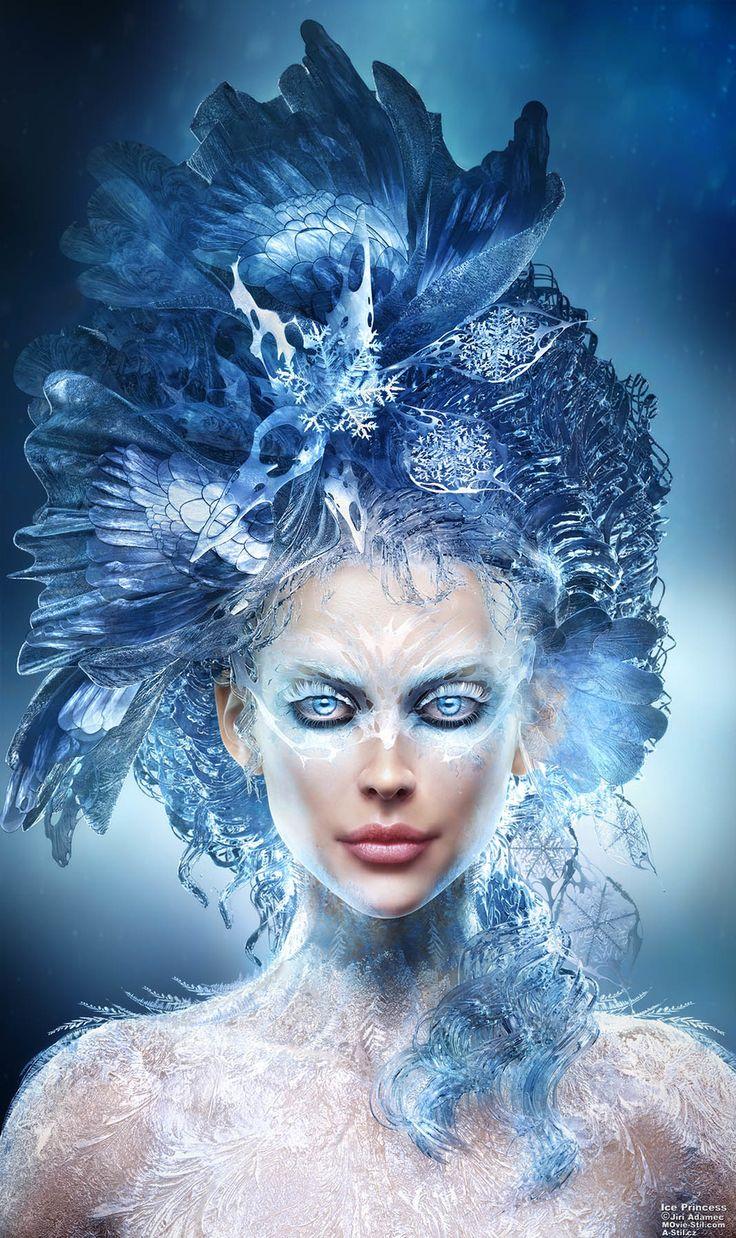 Ice Princess by Jiri Adamec   Realistic   3D   CGSociety