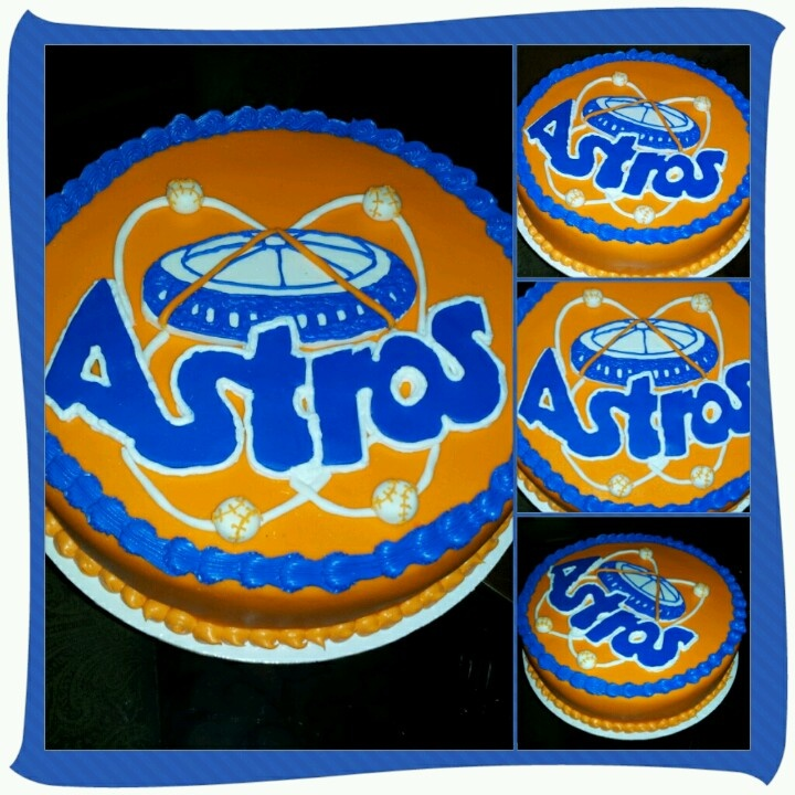 Houston Astros Birthday Cake