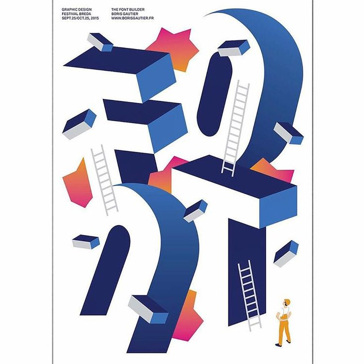 Well, that's one way to build a #font. Poster by Paris-based designer Boris Gautier #graphicdesign #typography