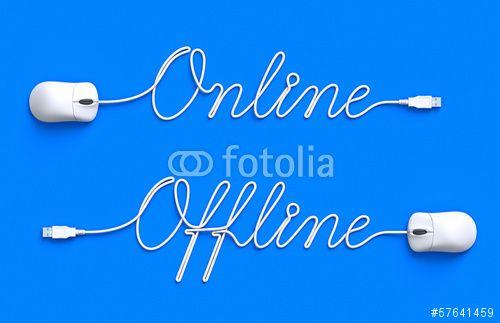 """Téléchargez la photo libre de droits """"Online and Offline"""" créée par mipan au meilleur prix sur Fotolia.com. Parcourez notre banque d'images en ligne et trouvez l'image parfaite pour vos projets marketing !"""