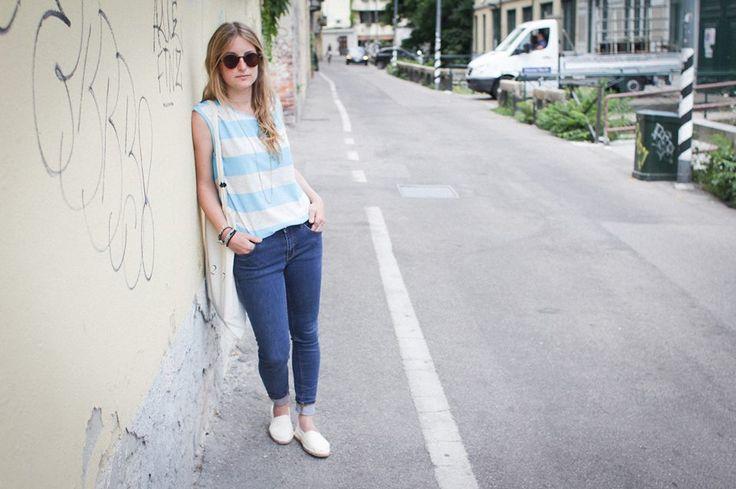 Righe multicolor per le t-shirt #BeAW Stripes della collezione donna. Negli AW LAB store e online: http://tinyurl.com/nl7rfwj