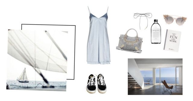 """Ocean breeze"" by doublethetrend on Polyvore featuring Carla G., Balenciaga, Vans, Selfridges and Lilou"