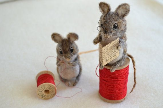 tailor of gloucestor felted mice. needle felted wool animal. Beatrix Potter mouse. sewing, seamstress. beatrix potter book characters gift.