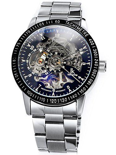 Alienwork IK mechanische Automatik Armbanduhr Skelett Automatikuhr Uhr schwarz silber Edelstahl 98226-10 - http://on-line-kaufen.de/alienwork/alienwork-ik-mechanische-automatik-armbanduhr