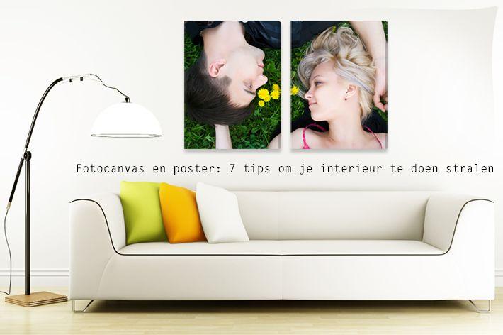 Ontdek hier hoe je met een fotocanvas en posters je interieur kan doen stralen! We geven graag 7 tips voor muurdecoratie met fotocanvas en poster: