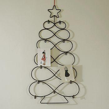 Wire Tree Shaped Card Holder. Christmas ...