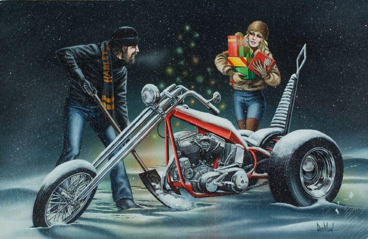 """White Christmas (girl carrying presents)"" - Originals - David Mann Originals - David Mann - Rally Fine Art | Fine Art World"