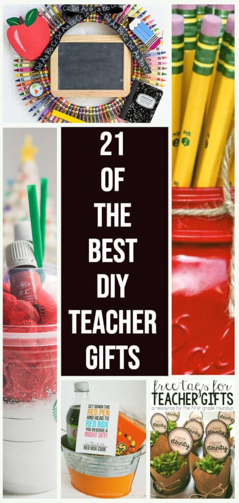 21 of the Best DIY Teacher Gift Ideas + 1 Mind Blowing Hack to Help