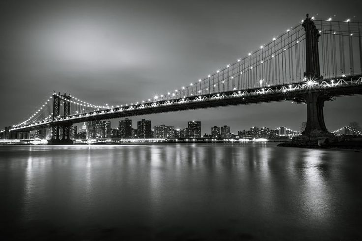 Manhattan Bridge monochrome by Mirco Balboni