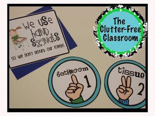 Clutter-Free Classroom: Hand Signals Signs {CLASSROOM 360}