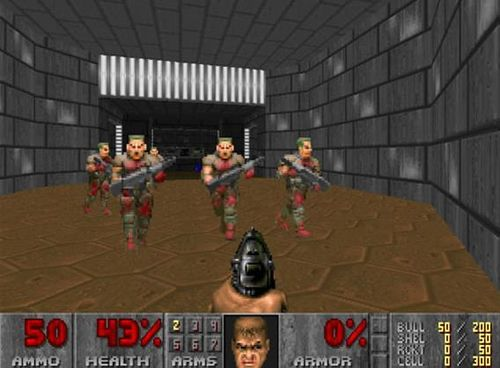 Such gameplay has been popularized with first-person shooter (FPS) games such as Wolfenstein 3D (1992). It may not be the firstborn of the genre, but it laid the path for classics such as Doom (1993) and Quake (1996).