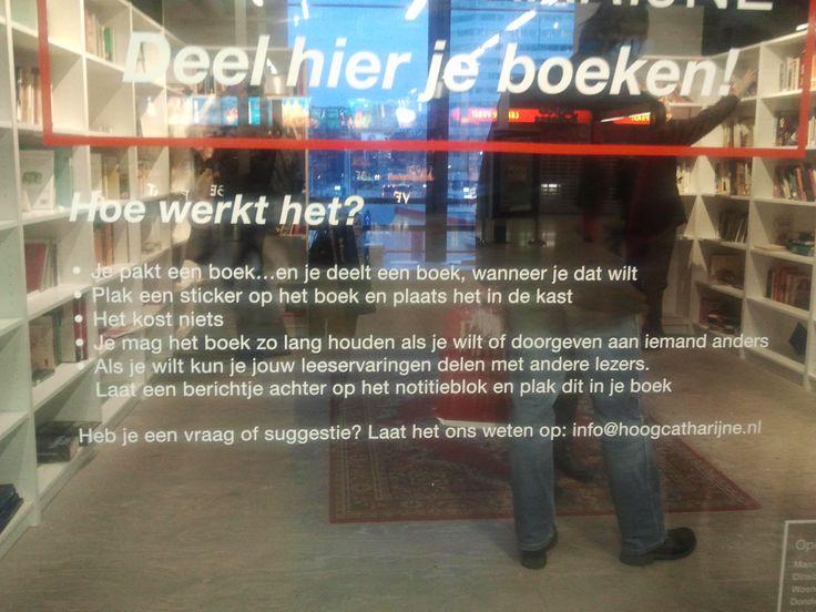 Je kunt in Hoog Catherijne in Utrecht boeken gratis meepakken