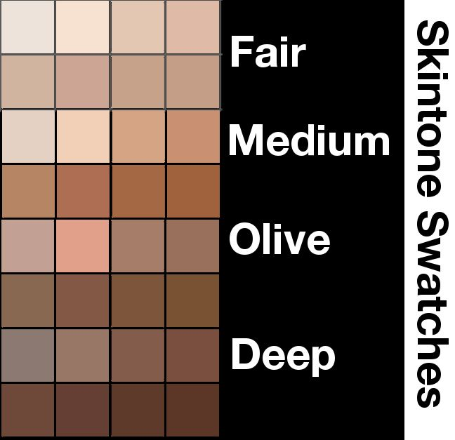 It is a picture of Old Fashioned Skin Color Pallete Drawing