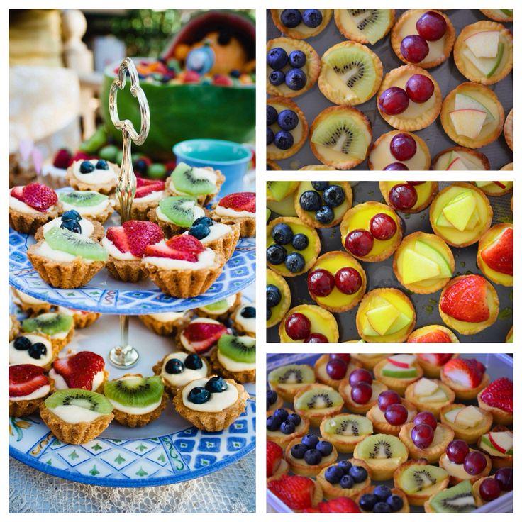Mini fresh fruit tarts