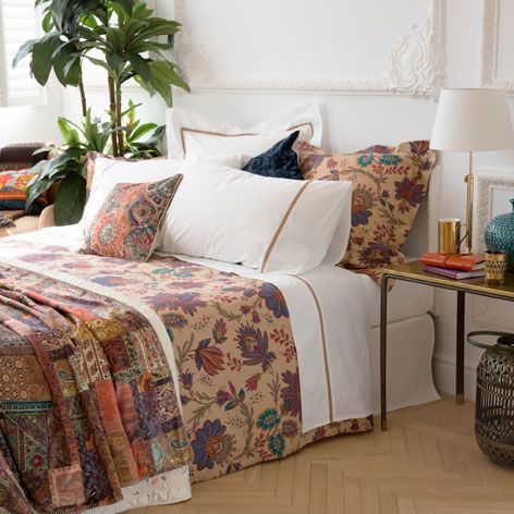 MULTICOLORED LEAVES BED LINEN - Bedding - Bedroom | Zara Home United States