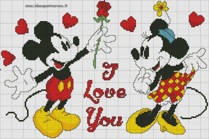 Mickey loves Minnie 1 of 2