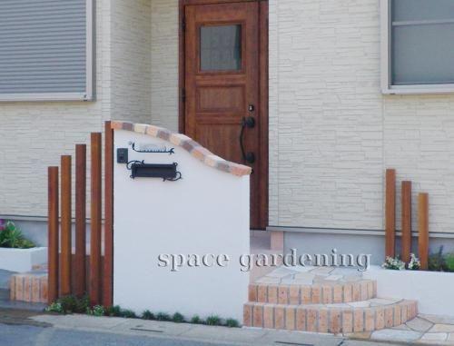 施工例画像:門扉なし外構 洋風 草加市