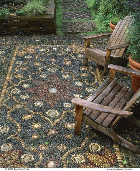 pebble mosaics...what a beautiful idea!