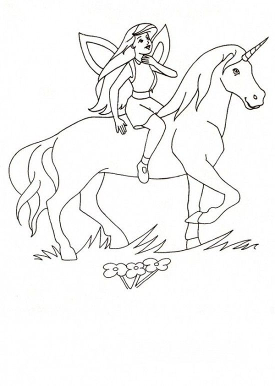 Unicorn Horse Coloring Pages Fairy And Page