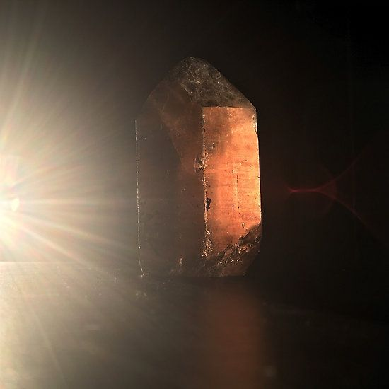 Citrine Quartz in Solstice Sunlight