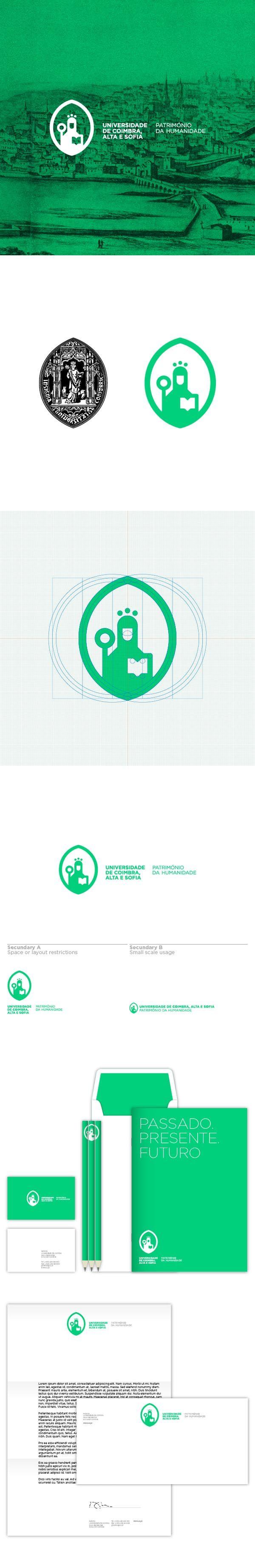 Universidade De Coimbra | #stationary #corporate #design #corporatedesign #logo #identity < < repinned by www.BlickeDeeler.de | Follow us on www.facebook.com/BlickeDeeler