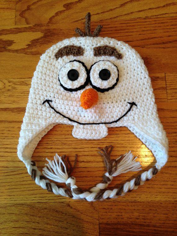 Frozen Olaf Snowman Crochet Hat by JessicaSayreCrochet on Etsy