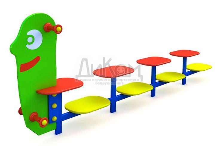 МФ-1.29 Детская скамейка «Гусеница»