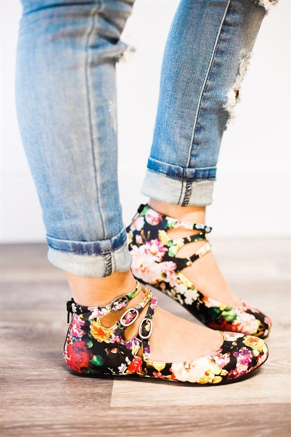 We are all about finding a cute and comfortable pair of flats! There is a zipper in the back, so you don't have to unbuckle!
