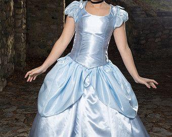 Cenicienta disfraz, Cosplay de Cenicienta adulto ajustable y lavable, princesa traje, Halloween de Cenicienta, princesa de Halloween