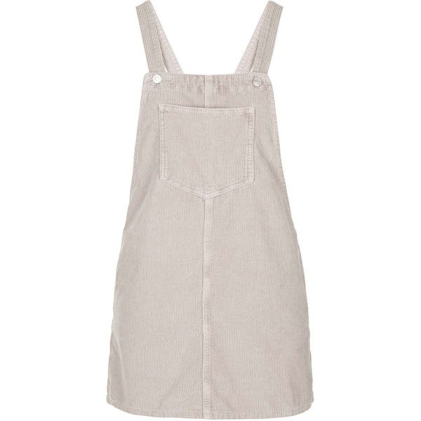 TOPSHOP PETITE Cord Pinafore Dress (831.890 IDR) ❤ liked on Polyvore featuring dresses, overalls, pale pink, petite, petite dresses, petite cotton dresses, pinafore dress, pink dress and topshop