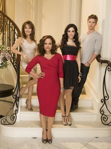 Devious Maids - Genevieve Delatour (Susan Lucci), Zoila Diaz (Judy Reyes), Valentina Diaz (Edy Ganem), Remi Delatour (Drew Van Acker)