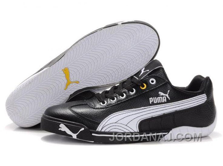 Puma Michael Schumacher Trainers Black/White Lastest