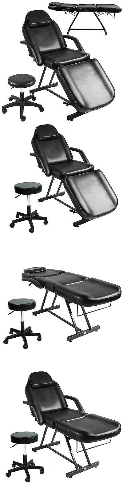 Massage Tables and Chairs: Adjustable Hydraulic Massage Bed Chair W/Stool Beauty Spa Tattoo Salon Equipment BUY IT NOW ONLY: $160.9