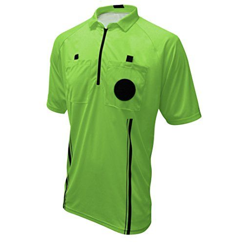 Winners Sportswear New USSF Pro Soccer Referee Jersey (2018 USSF Green, Adult Medium)  New USSF style and color (Yellow). New Green and Red coming 3/2017  Updated Sleek Design & Fit  Breathable Mesh Side Panels with Pro style Zippered Collar  Two Pockets w/Velcro Closure & Pull Tabs  Reinforced, high quality stitching. Micro Mesh polyester fibers
