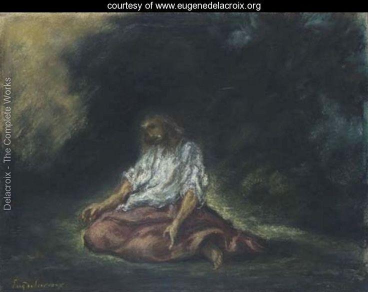 39 Christ In The Garden Of Gethsemane 39 Eugene Delacroix Art I Love Pinterest