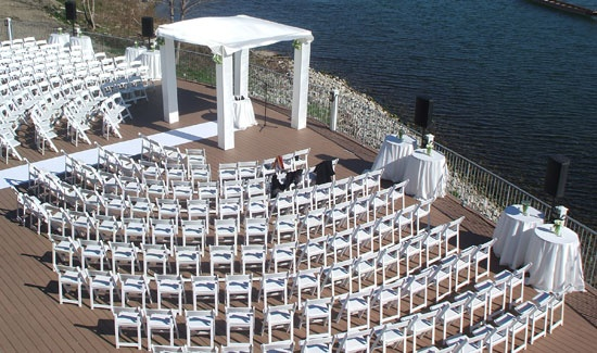 Toronto Wedding Venue - Celebrate Your Wedding in Toronto at Palais Royale. Our patio is the perfect setting for that special ceremony overlooking the lake.
