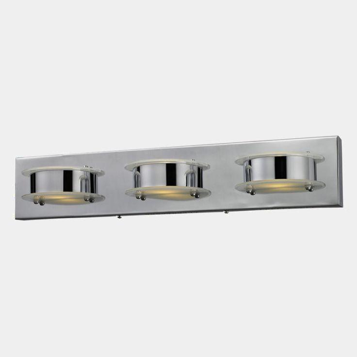 Elk Lighting Modern LED Bathroom Light In Chrome Finish