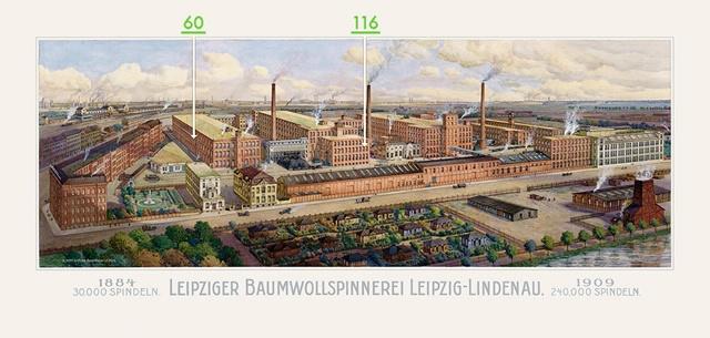 Meisterzimmer - Pension in der Leipziger Baumwollspinnerei - Info/Spinnerei