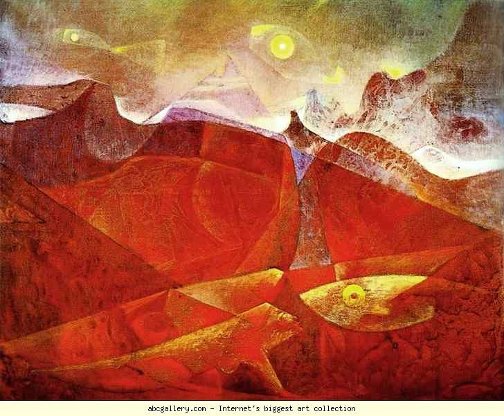 Max Ernst. Colorado of Medusa, Color-Raft of Medusa. 1953. Oil on canvas. 75 x 92 cm. Private collection