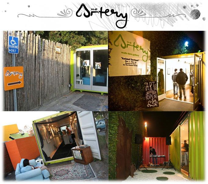The lab costa mesa container art gallery cargotecture interior design shipping container - Container art studio ...